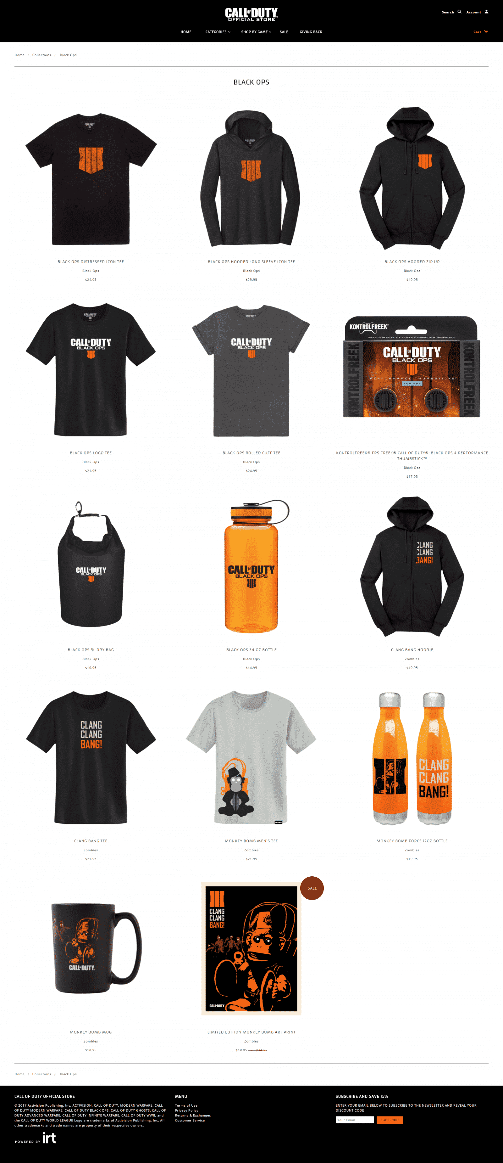 Black Ops 4 Blackout Gear Call of Duty Official Store Apparel