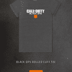 Black Ops 4 Blackout Gear Rolled Cuff Tee Shirt