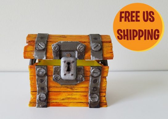 Custom Made Fortnite Loot Chest Epic Games Xbox Live PSN PC Gaming Multipler Real Life