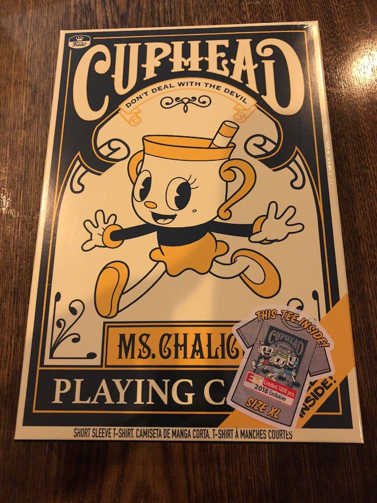 E3 2018 CUPHEAD Legendary CHALICE T-SHIRT X-LARGE FUNKO POP LIMITED EXCLUSIVE