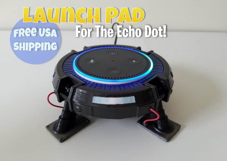 Fortnite Launch Pad Stand for the Amazon Echo Dot Mini - Epic Games PC Gaming Xbox PS4