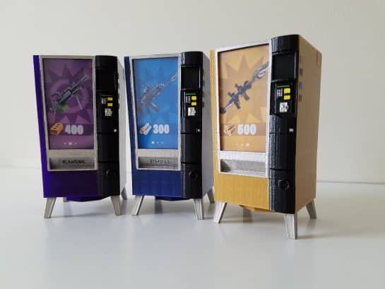 Fortnite Vending Machine Prop Custom Made Mini - Piggy, Coin Bank - V-bucks - Birthday Gift Epic Games