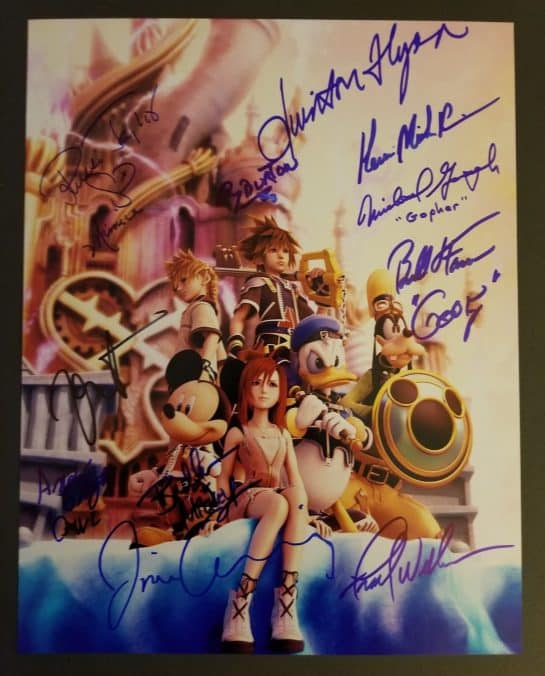 KINGDOM HEARTS Cast Squaresoft Disney Authentic Signed Autograph Haley Joel Osment Official Video Game