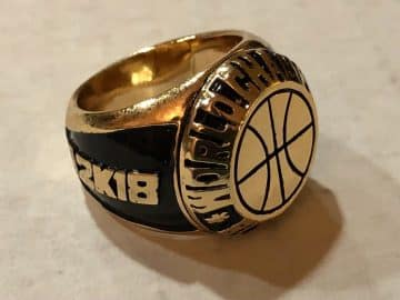 NBA 2K World Championship Ring Sport Game EA Electronic Arts PlayStation Xbox