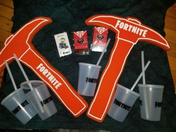 Official Fortnite Swag from E3 Epic PC Gaming Pick Axe Bottle Pin