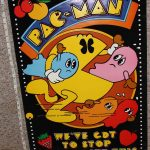 Pac-Man Velvet Poster Authentic Vintage Near Mint Promo Atari RARE
