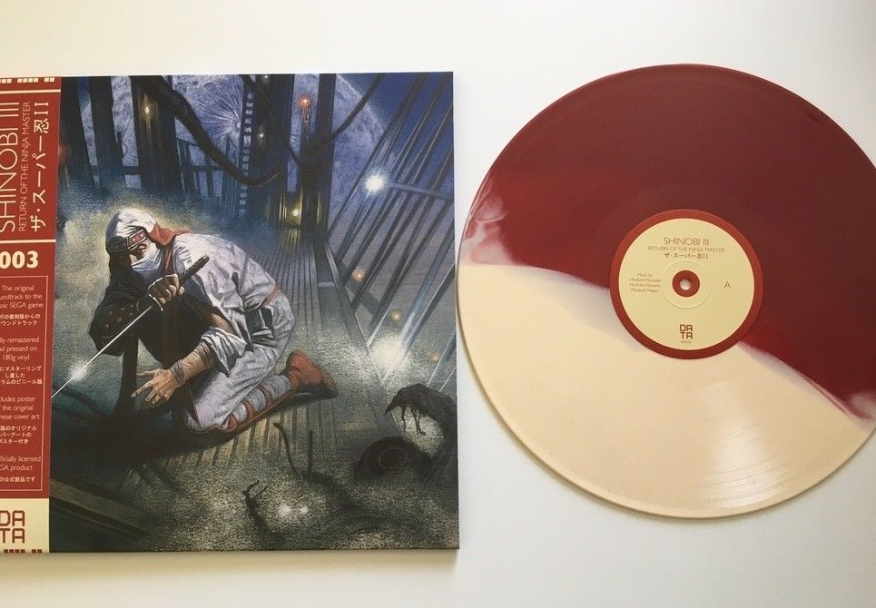 Shinobi III Soundtrack OST Limited Edition Data Discs Vinyl Oxblood & Bone LP 3