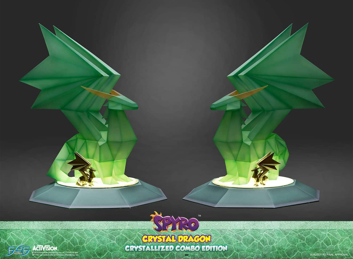 Spyro CRYSTAL DRAGON Crystallized Combo Edition Statue Resin Activision First 4 Figures F4F