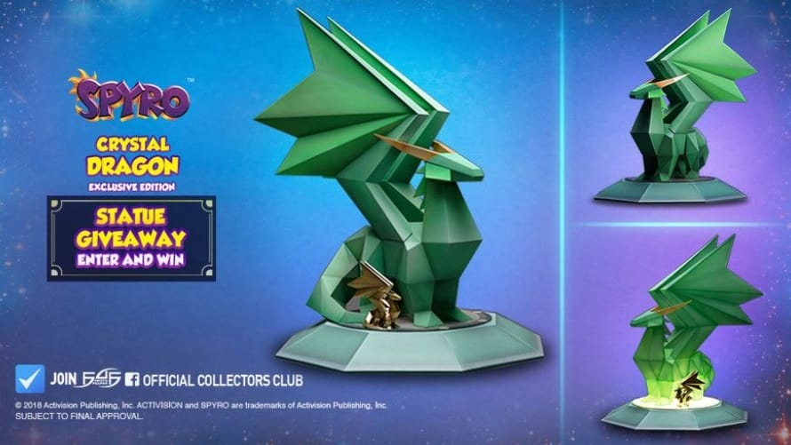 Spyro Crystal Dragon Statue Giveaway Contest Prize First 4 Figures F4F