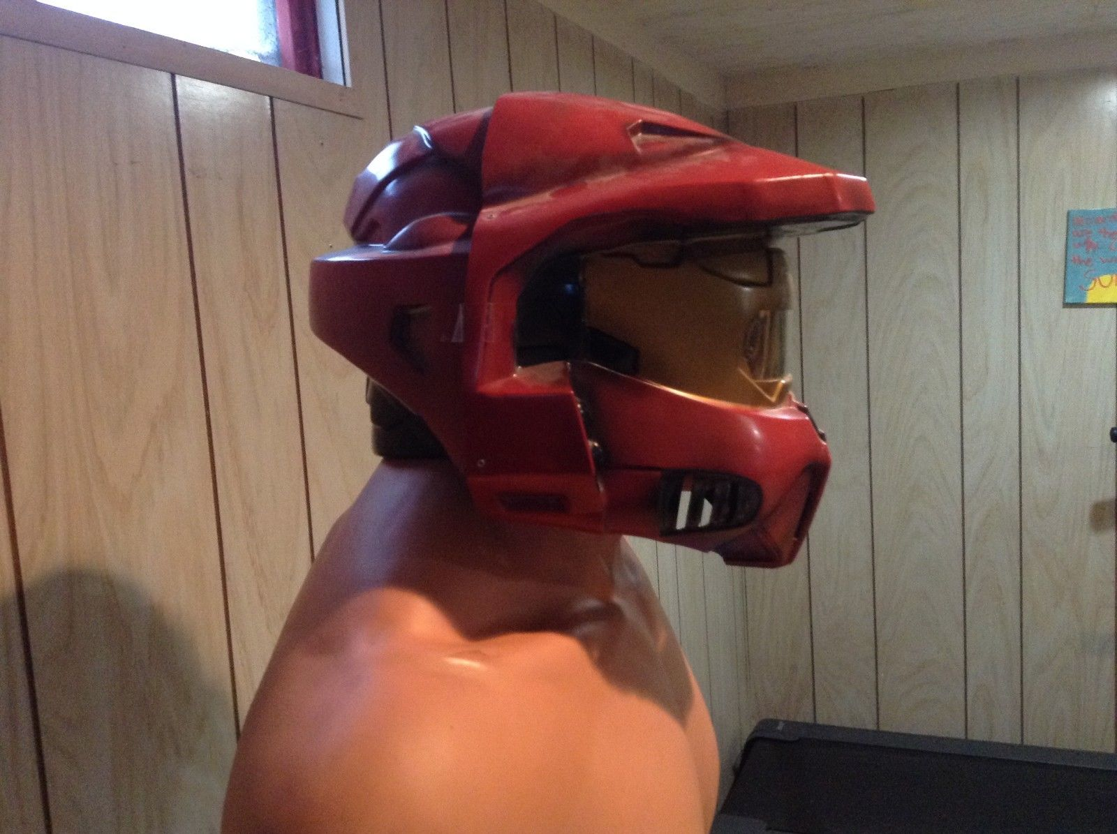 Adult Sized Halo Red Spartan Helmet Officially Licensed Costume Mask Bungie 2
