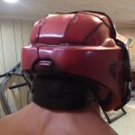 Adult Sized Halo Red Spartan Helmet Officially Licensed Costume Mask Bungie 3