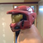 Adult Sized Halo Red Spartan Helmet Officially Licensed Costume Mask Bungie 4