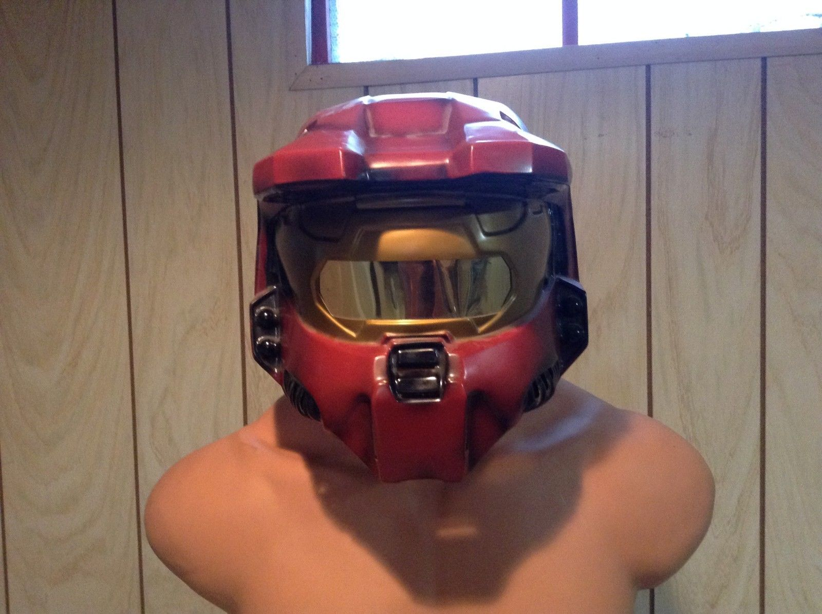 Adult Sized Halo Red Spartan Helmet Officially Licensed Costume Mask Bungie