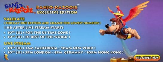 Banjo Kazooie Exclusive Resin Statue First 4 Figures F4F Limited Edition Nintendo Bust Figure