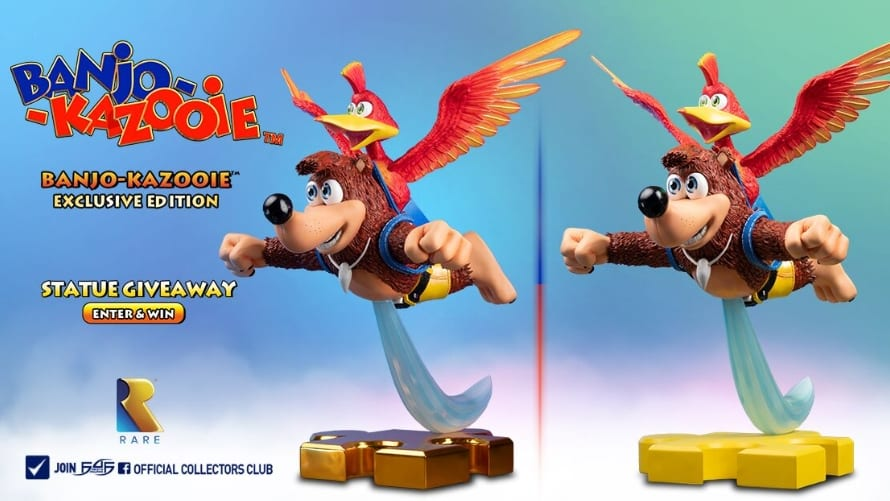 Banjo Kazooie Resin Statue First 4 Figures F4F Limited Edition Nintendo Bust Figure