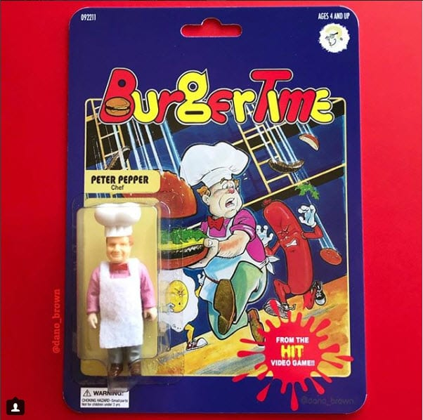 Burger Town Peter Pepper Chef Dano Brown Custom Action Figure Exhibition San Diego Los Angeles