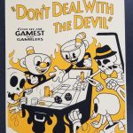 Cuphead Craps in Hell Regular Screen Print Poster 1st Edition