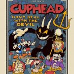 Cuphead Don't Deal With The Devil Video Game Poster Print Glaubinger Ferguson