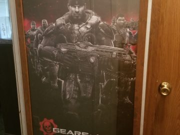 Gears of War 4 Video Game Posters in wooden frame with plastic glass 24X36