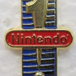 Nintendo #1 EXCLAMATION POINT employee tie tack pin pinback button