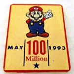 rare May 1993 Nintendo 100 MILLION Mario employee tack pin pinback button