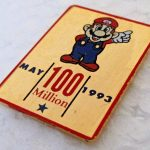 rare May 1993 Nintendo 100 MILLION Mario employee tack pin pinback button 2