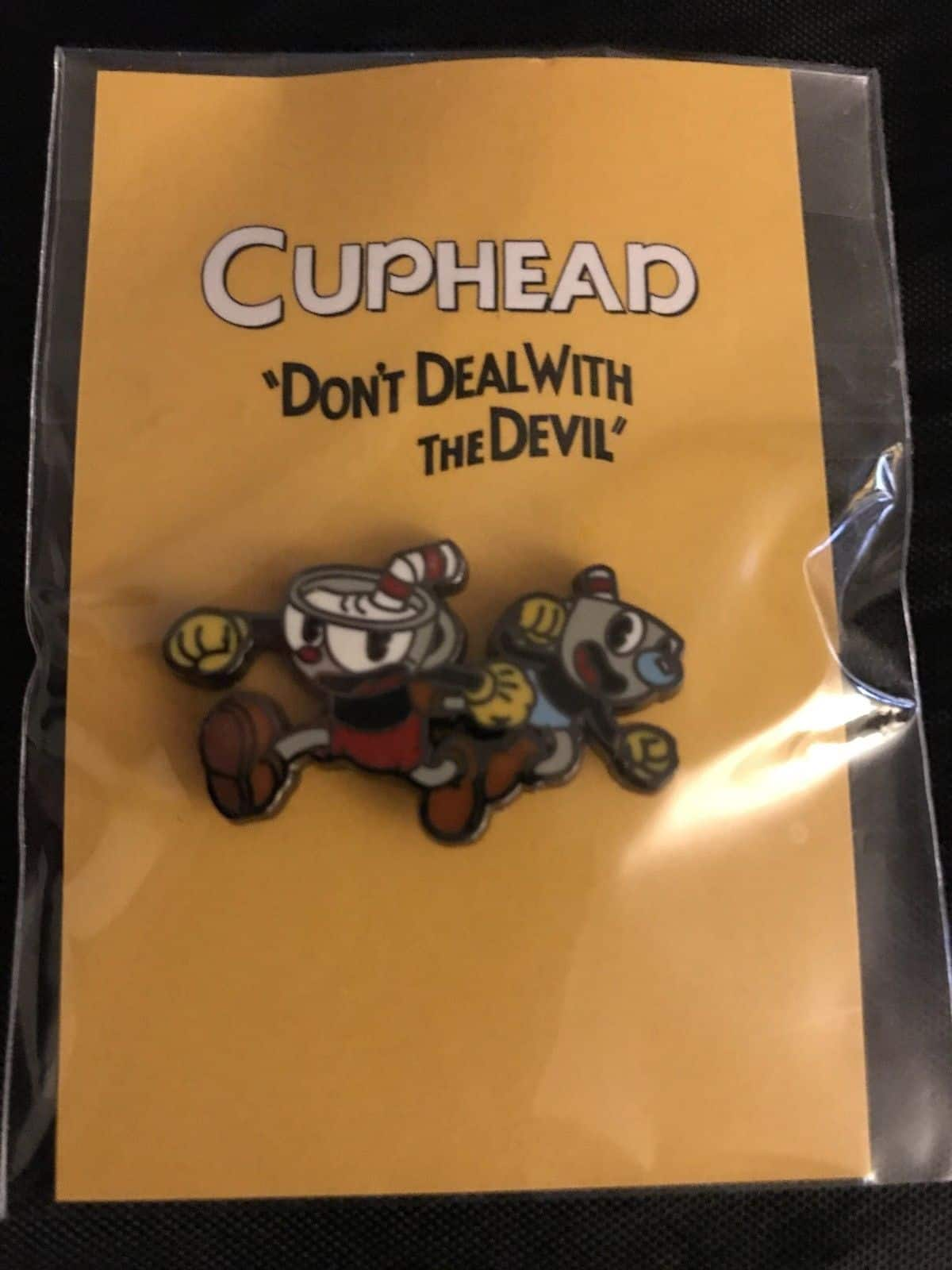 CupHead Xbox Pin Launch Party Exclusive Don't Deal with the Devil Sticker Pin Set Limited 2
