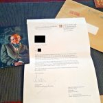 Stephen Hawking Official Letter from University of Cambridge Professor England UK Photo Signed Signature Autograph Personal Assistant