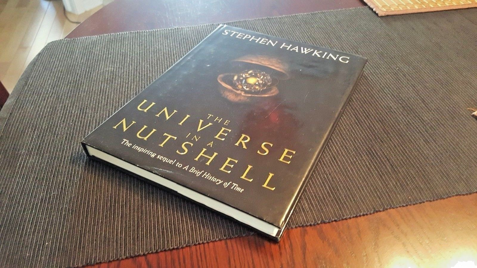 Stephen Hawking Thumb Print Book Autograph Signature 1st Edition Universe in a Nutshell