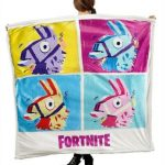 Fortnite Llama Blanket Sherpa Fleece Epic Games Gaming Ninja 2