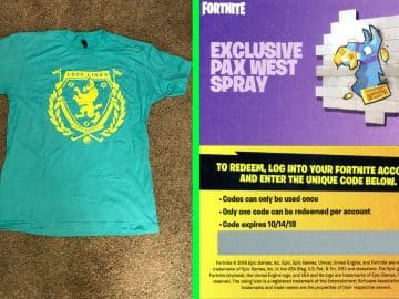 Fortnite Llama Spray and Fortnite Lazy Links Shirt Exclusive PAX Items