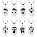 Fortnite Logo Battle Royale Game Necklace Stainless Steel 3 PCS Dog Tags 2