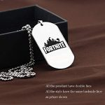 Fortnite Logo Battle Royale Game Necklace Stainless Steel 3 PCS Dog Tags 3