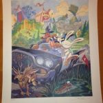 Sam & Max Hit the Road Lithograph Signed by Steve Purcell