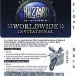 Tyrael's Hilt Loot Card from 2008 Blizzcon Paris World of Warcraft