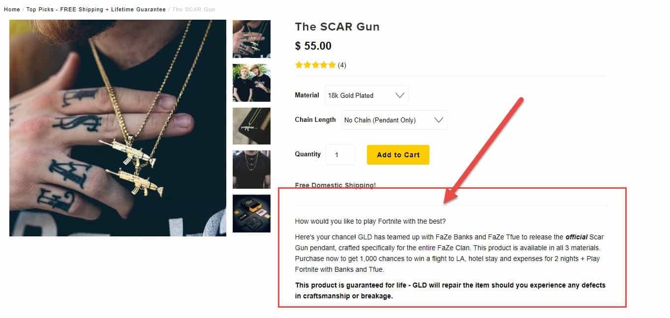 tfue scar chain