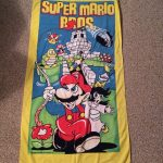 1989 Nintendo Super Mario Bros. Beach Towel 80s princess toadstool