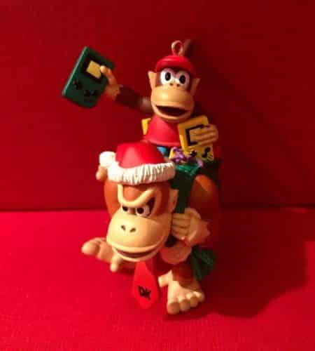 1996 Donkey Kong Diddy Christmas Ornament Video Game DK Nintendo Gameboy EUC