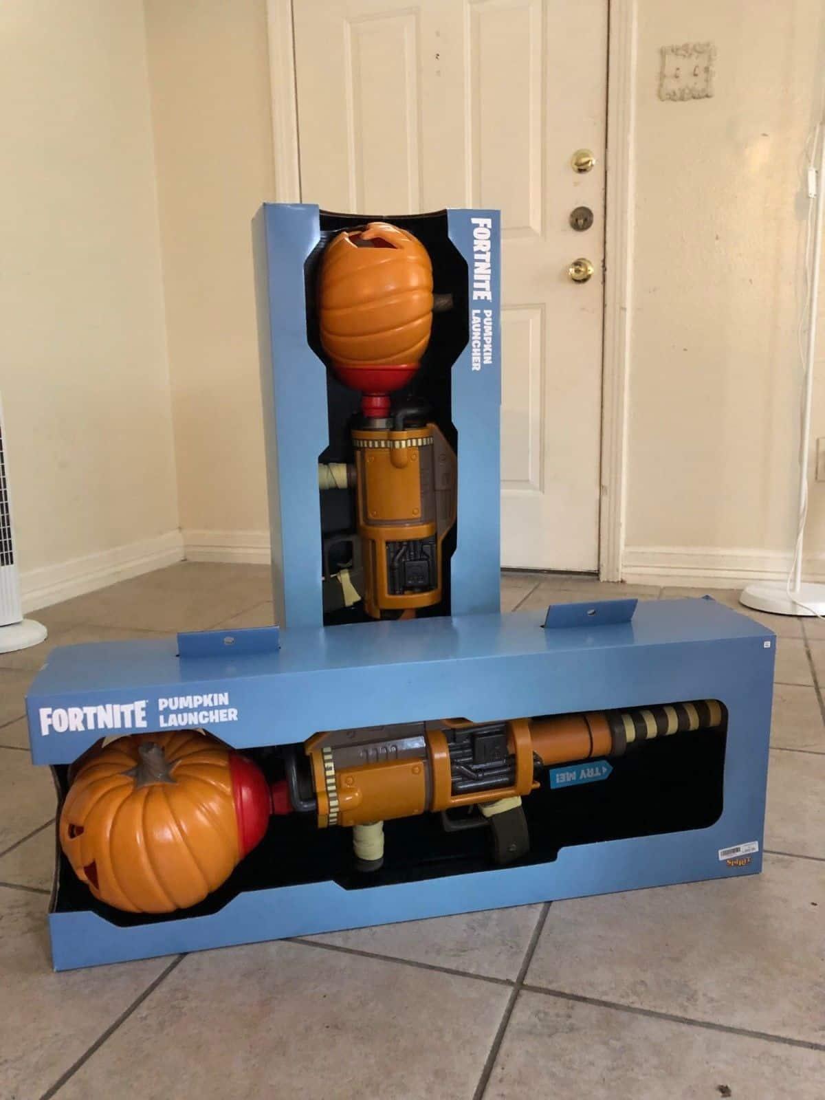 Fortnite LED Light Up Pumpkin Launcher licensed Halloween Costume Prop