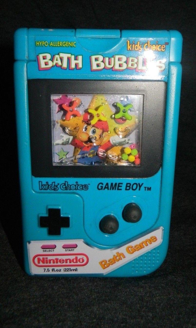 Nintendo Gameboy Bath Bubbles Vintage New Old Stock Bath Mario Bros Bath Game