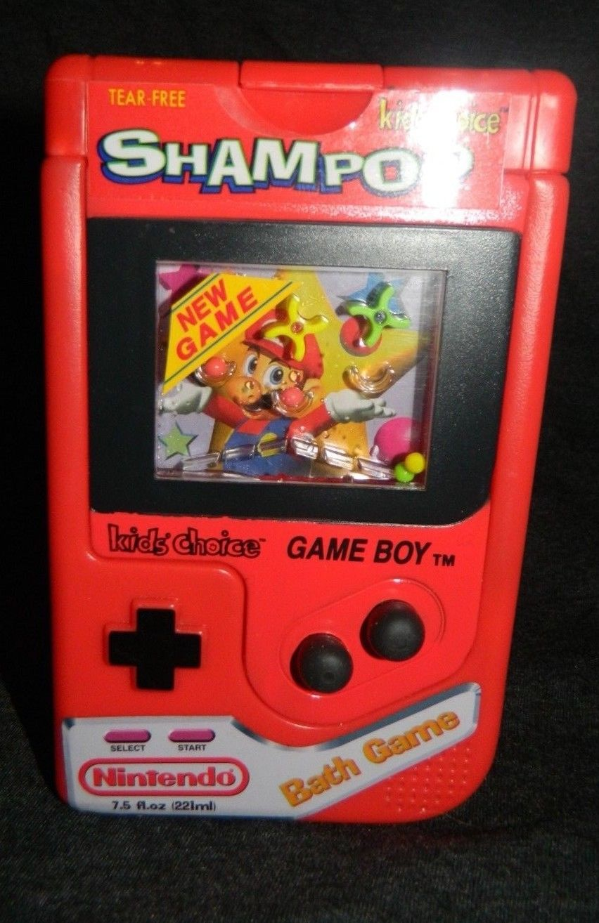 Nintendo Gameboy Shampoo Vintage New Old Stock Bath Mario Bros Bath Game