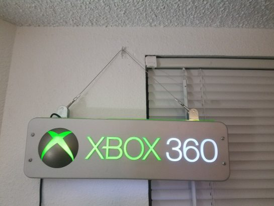 Xbox 360 Toys R Us Sign Video Game Display