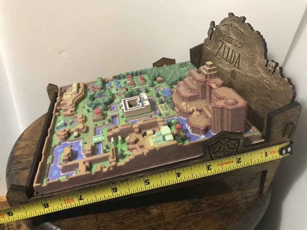 A Link to the Past 3D Map Super Nintendo SNES Zelda Video Game Statue 2