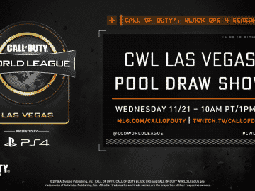 CWL Vegas 2018 Draw Show Top Teams Schedule and Start Time