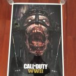 Call Of Duty Ww2 Zombies Exclusive Poster #375 of 3000 Signed by Developers