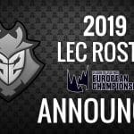 G2 Esports official announces-2019 LEC roster pro league Professional Gamer
