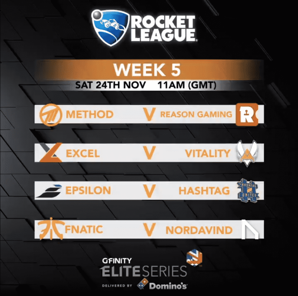 Gfinity Elite Series Rocket League Match Up Esports Team Pro League