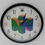 Nintendo 64 N64 Employee Store Display Sign Promo Wall Clock Official 3