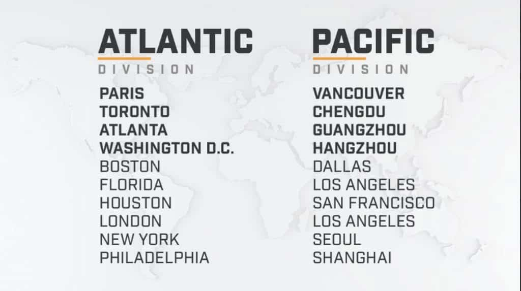 Overwatch League Division Season 2 Standings Schedule