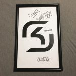 Signed SK CSGO Poster with Proof ESL Pro League MLG ESports